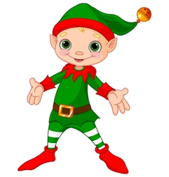 Happy Christmas Elf vector image