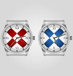 Mechanical wrist watch vector