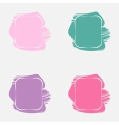 Set with paint frames vector
