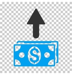 Send banknotes icon vector