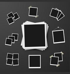 Eps10 retro instant photo frame mockup vector