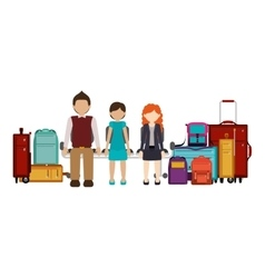 Isolated passenger and baggage design vector