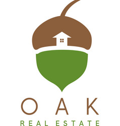 Acorn and house icon real estate concep vector