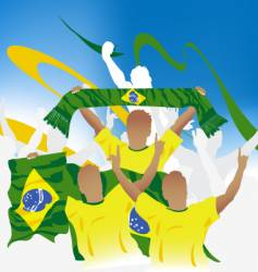 Brazil crowd vector