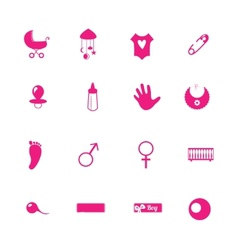 Flat mothers icons set with vector