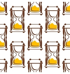 Hourglasses seamless pattern on white vector