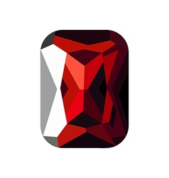 Red stone vector