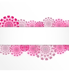 Abstract heart flower background vector