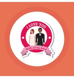 Love and couple design vector