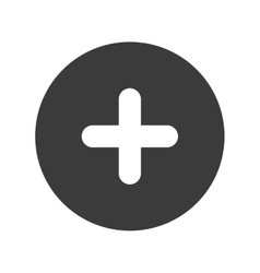 Cross positive circle icon vector