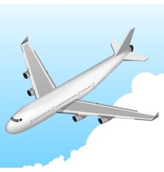 Airplane isometric icon vector