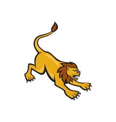 Angry Lion Attacking Side vector image
