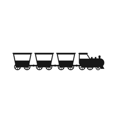 black silhouettes of trains vector image vector image