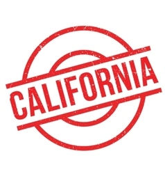 California rubber stamp vector image
