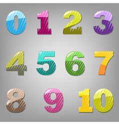 Cartoon Numbers Set vector image