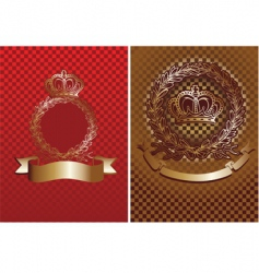 cell and crown background vector image vector image