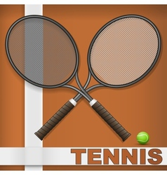Clay court and rackets vector image vector image