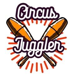Color vintage circus emblem vector image vector image