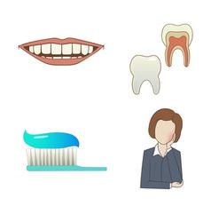 Dental set vector