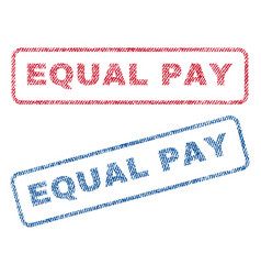 Equal pay textile stamps vector