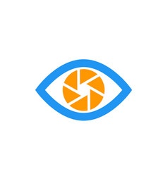 eye with aperture symbol icon on white vector image