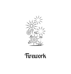 Firework company logo design vector