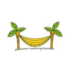 icon hammock vector image vector image