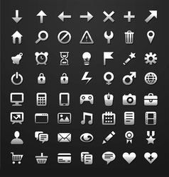 icons for software or websites vector image vector image