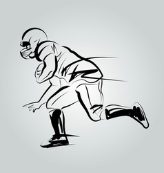Line sketch player of american football vector