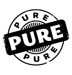Pure rubber stamp vector