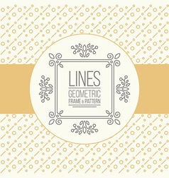 Set of line pattern and linear frame vector image vector image