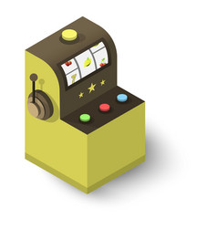Slot machine icon isometric 3d style vector