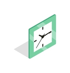 Square clock icon isometric 3d style vector image vector image