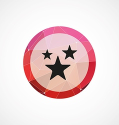 Stars circle pink triangle background icon vector