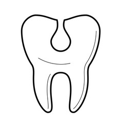Tooth with cavity icon vector