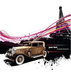 vintage car in Paris vector image vector image
