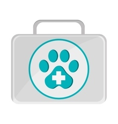 Pet first aid kit icon vector