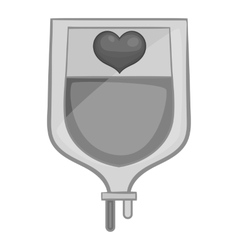 Blood donation icon black monochrome style vector