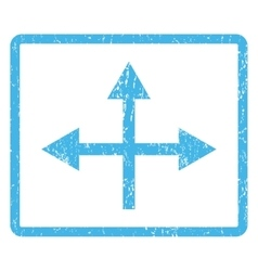 Intersection directions icon rubber stamp vector
