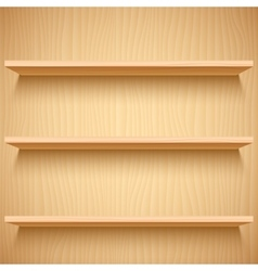 Empty Wooden Shelves vector image
