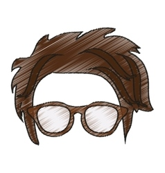 Isolated hipster hear and glasses design vector