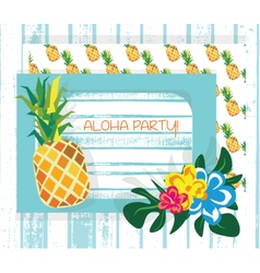Vintage summer card vector