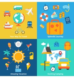 Flat travel concepts vector image