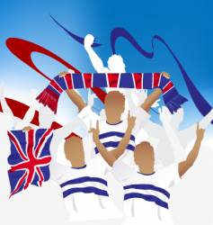 British crowd vector