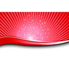 red magical background vector image