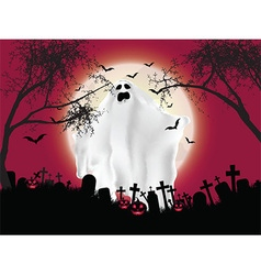 Halloween ghost background vector