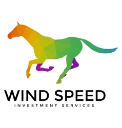 Running horse logo template vector