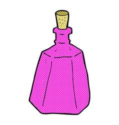 comic cartoon potion bottle vector image