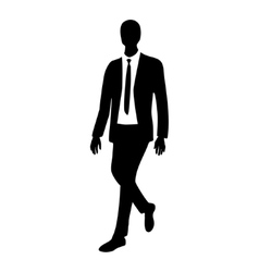 Silhouette of business man in motion vector