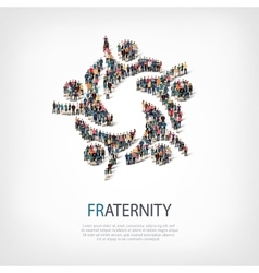 Fraternity people symbol vector